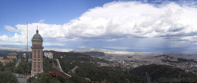 Panoramic view of the Barcelonès and beyond from Tibidabo
