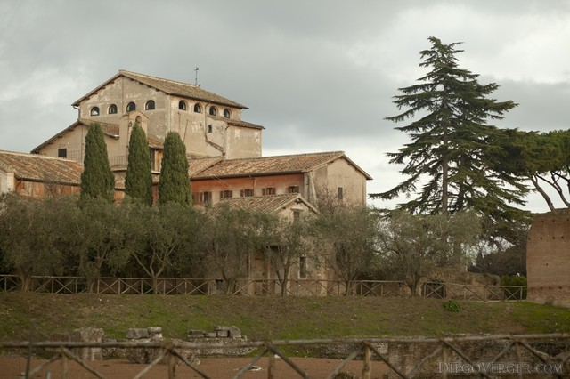 Church of San Bonaventura al Palatino in the Palatine hill, Rome, Italy