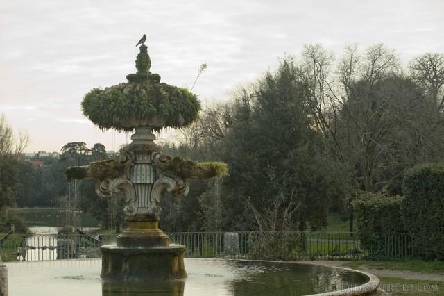 Fuente de la flor de lis en Villa Doria Pamphili