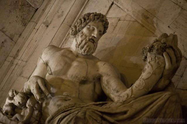 Statue of the Tiber river in the Campidoglio, Rome, Italy