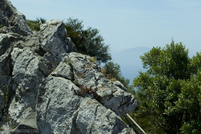 Summit of the Rock of Gibraltar and a glimpse of Africa - Gibraltar