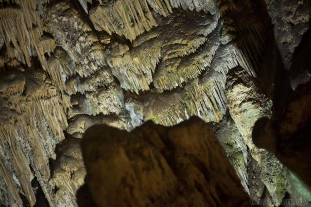 Flowstones versus parachutes in the Nerja, Spain