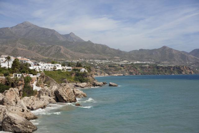 Sierra Almijara and the coast of Nerja - Nerja, Spain