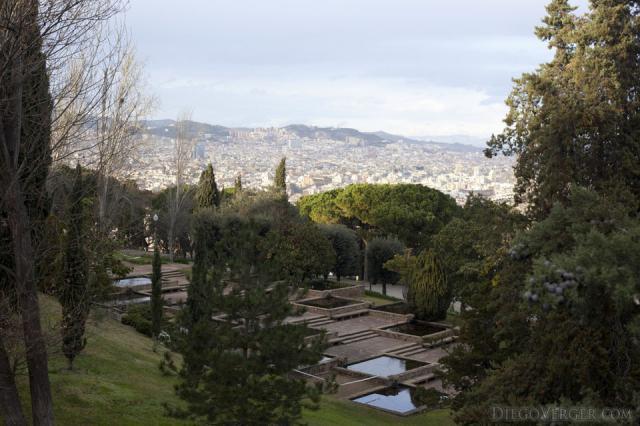 Verdaguer tiered garden ponds Barcelona