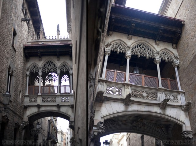 Bishop's Bridge, Gothic Quarter Barcelona