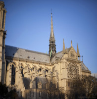Southern façade of Notre-Dame - Paris, France