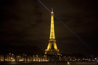 The Eiffel Tower by night - Paris, France