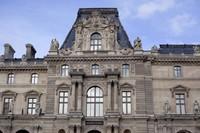 Fachada del pabellón Colbert del Louvre- París, Francia