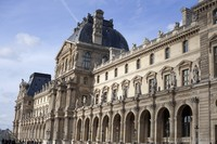 Richelieu wing and Pavilion of the Louvre - Paris, France