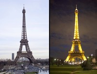 The Eiffel Tower, day and night - Paris, France
