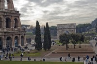 View of the Colosseum Square, including the Arch of Constantine