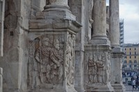 Column bases of the Arch of Constantine