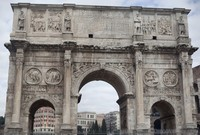 South facade of the Arch of Constantine