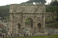Aerial view of the Arch of Constantine