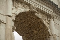Passageway of the Arch of Titus in Rome, Italy