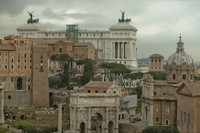 Roman forum and Vittorio Emanuele II monument