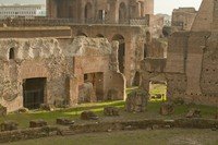 Buildings surrounding the stadium of Domitian