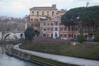 Isla Tiberina en Roma, Italia