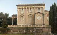 Vista lateral de la capilla de Villa Doria Pamphili