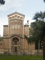 Parte posterior de la capilla en Villa Doria Pamphili