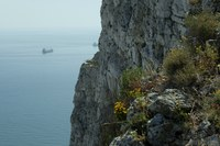 Detail of the Rock of Gibraltar and the Mediterranean