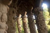 Stone viaduct from Park Güell - Barcelona, Spain