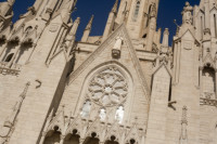 Façade of the Temple of the Sacred Heart of Jesus - Barcelona, Spain