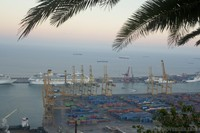 Port of Barcelona from Montjuic - Barcelona, Spain