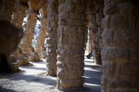 Gallery of a viaduct in Park Güell - Barcelona, Spain