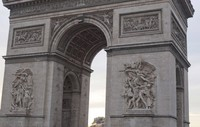 Detail of the Arc de Triomphe in Paris