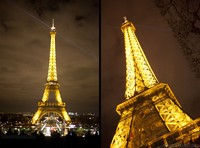 The golden lighting of the Eiffel Tower - Thumbnail