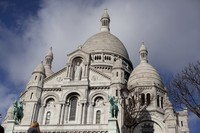 Façade of the Sacré-Cœur in Paris, France