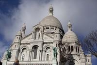 Fachada del Sagrado Corazón - París, Francia