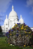 Sphere of Flowers and Sacré-Cœur - Paris, France