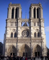West façade of the Notre-Dame Cathedral - Paris, France