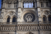 Detail of the west façade of Notre-Dame - Paris, France