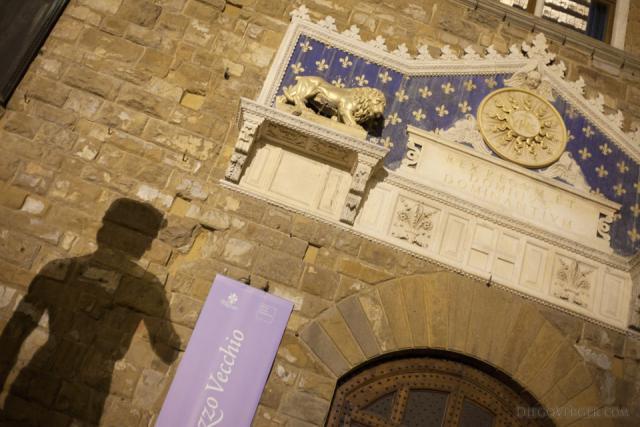 Dettaglio della facciata del Palazzo Vecchio - Firenze, Italia