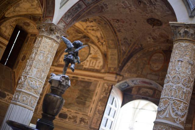 Putto con delfino nel Palazzo Vecchio - Firenze, Italia