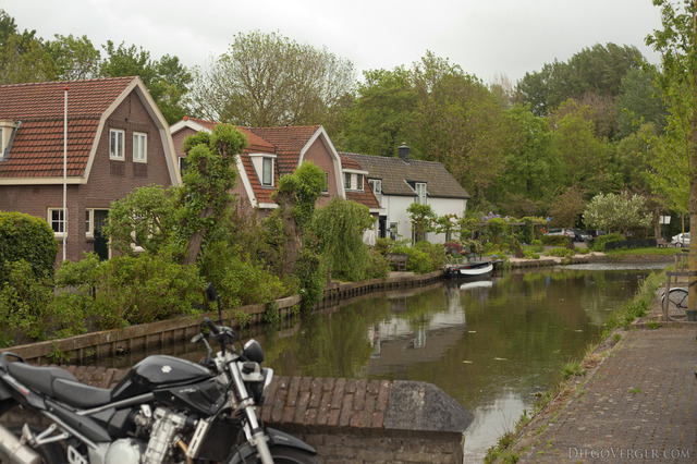 A canal in the center of Weesp - Weesp, Netherlands