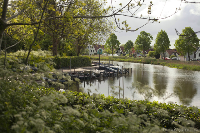 One of the quays in Weesp - Weesp, Netherlands