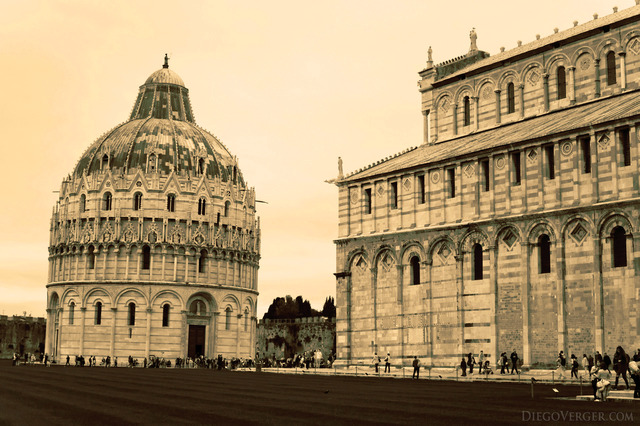 The baptistery next to the Pisa Cathedral - Pisa, Italy