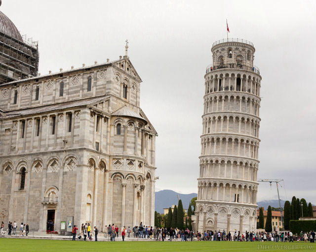 The Tower of Pisa and Piazza dei Miracoli