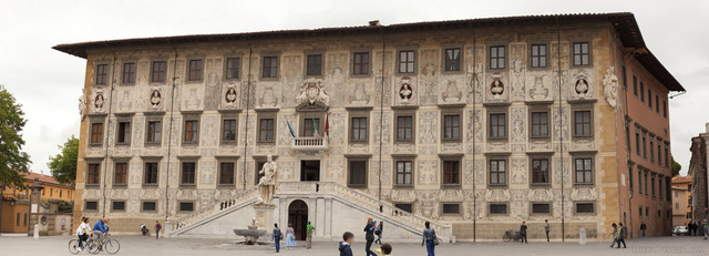 Panoramic photo of the building of Scuola Normale Superiore of Pisa - Pisa, Italy