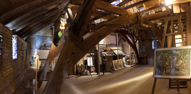 Panorama of the castle's attic - Muiden, Netherlands