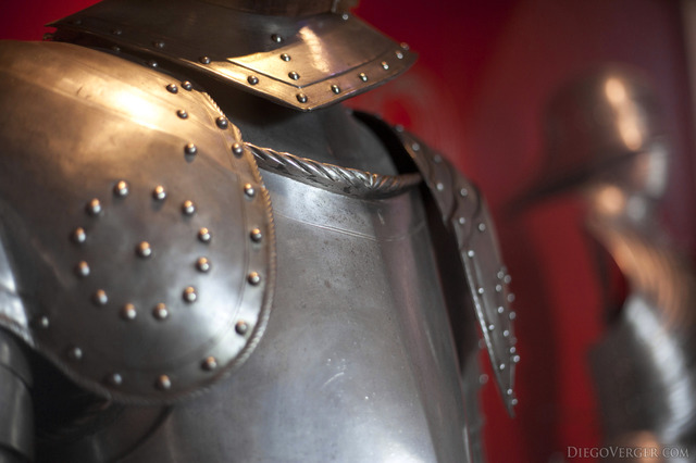 Detail of a Dutch armour from the 16th century - Muiden, Netherlands