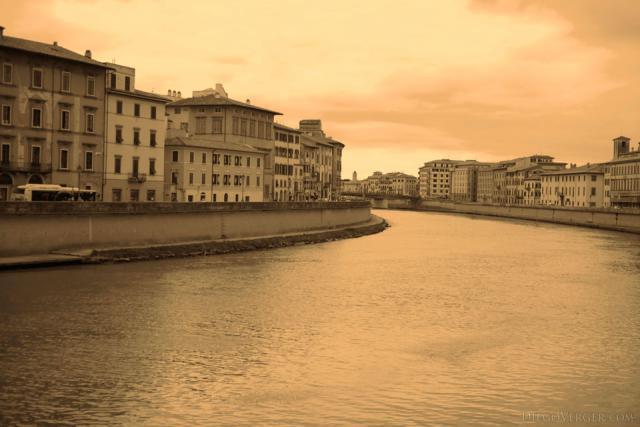 The Arno across Pisa - Pisa, Italy