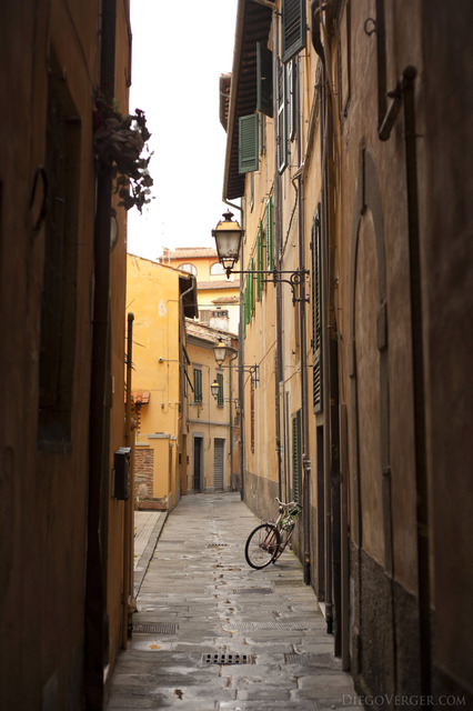 One of the streets of Pisa in the Santa Maria quarter - Pisa, Italy