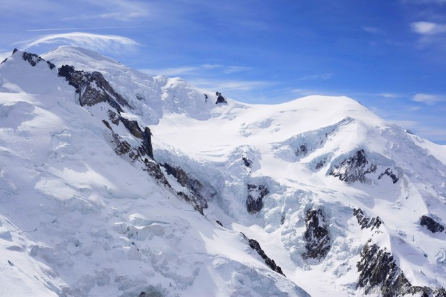 The summit of Mont Blanc - Chamonix, France