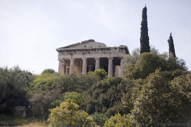Southeast façade of the Temple of Hephaestus in Athens - Athens, Greece