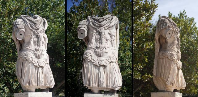 Sculpture of Emperor Hadrian - Athens, Greece